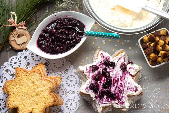Pandoro Limoncé with Mascarpone Cream and Blueberries