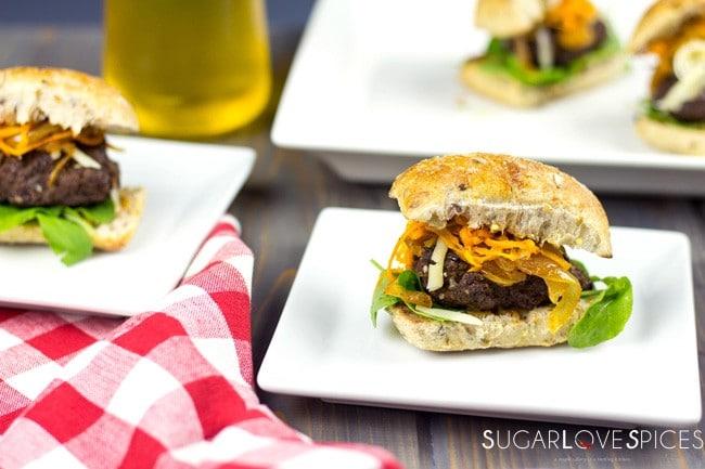 Black Bean Beef Burger Sliders