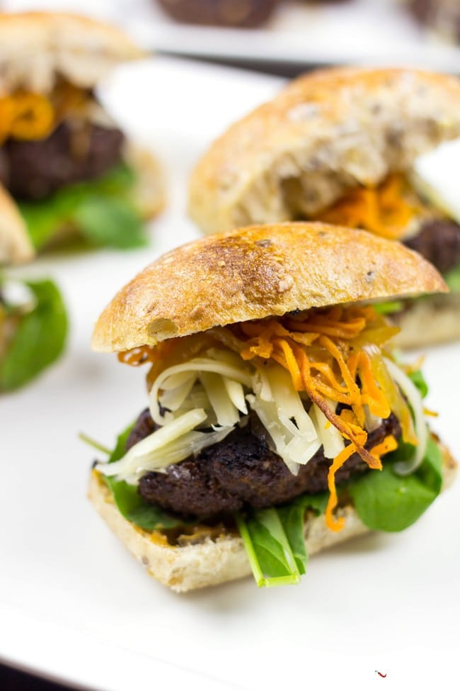 Black Bean Beef Burger Sliders