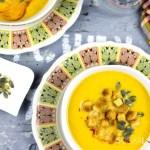 Broccoli, sweet potato cheesy soup
