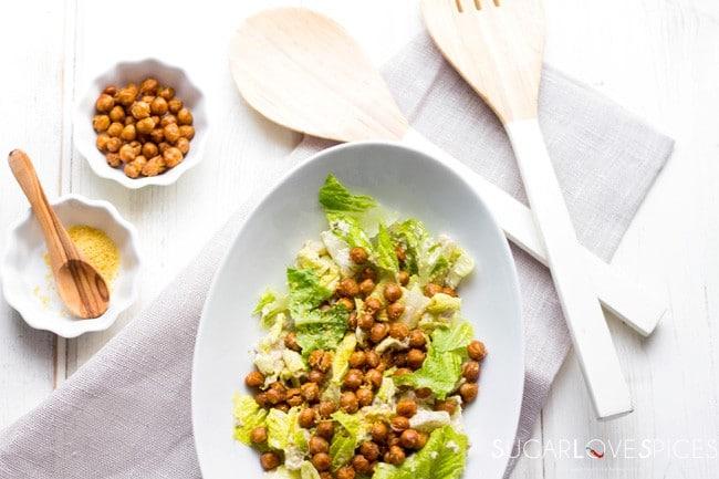 Roasted Chickpea Caesar Salad [V., G.F.]