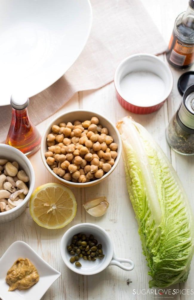 Roasted Chickpea Caesar Salad