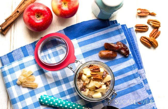 Apple Pie Chia Overnight Oats [V., G.F.]