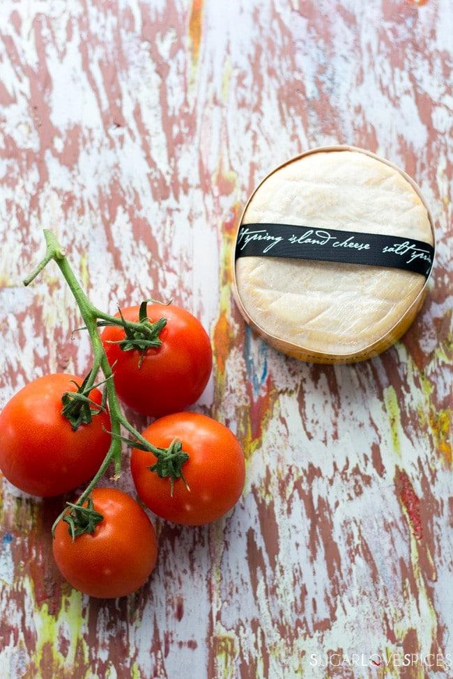Aged Goat Cheese Tomato Tart