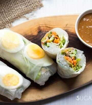 Boiled Egg Endive Salad Rolls