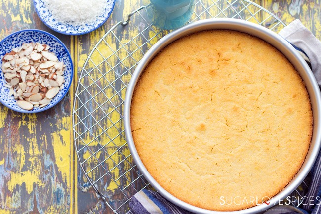 Semolina Cake soaked in Orange Blossom Syrup