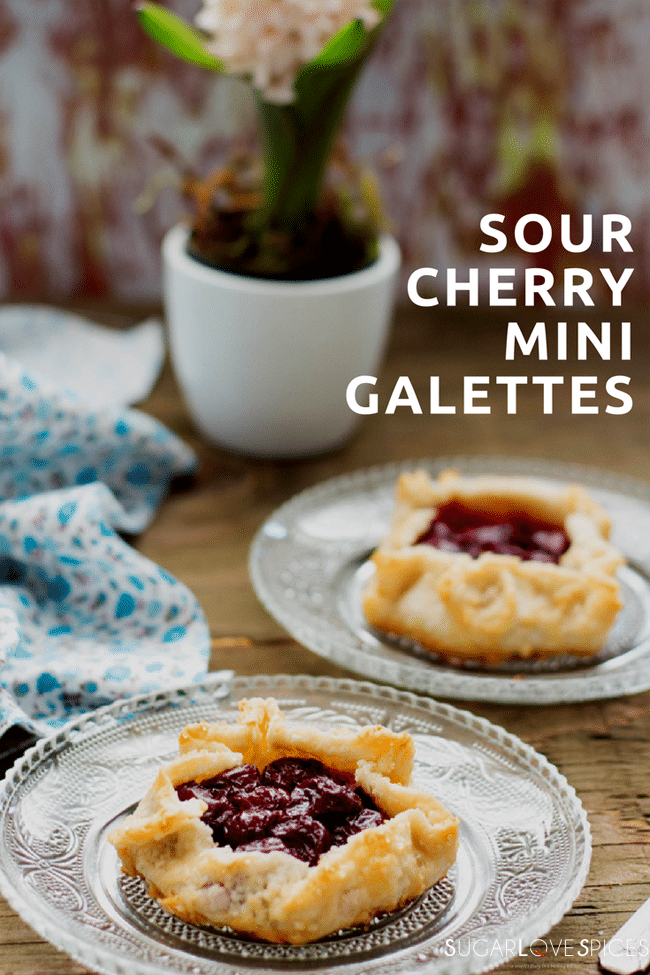Sour Cherry Mini Galettes (and a Blogger Recognition Award)