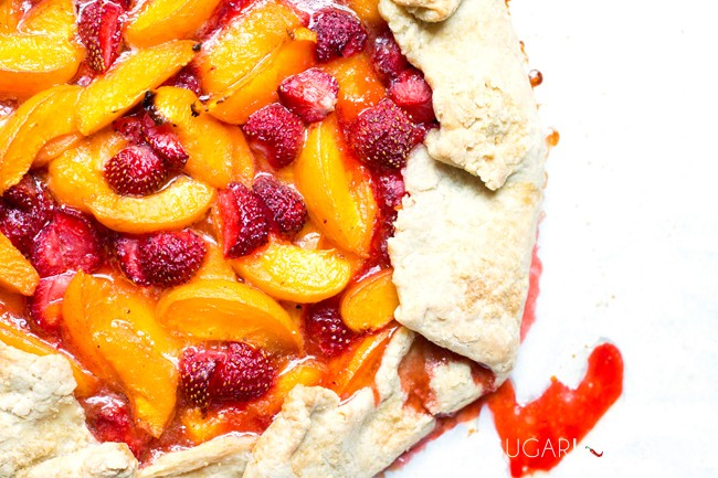 Apricot and Strawberry Almond Galette