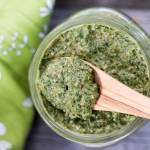 No-garlic Beet Green Walnut Pesto