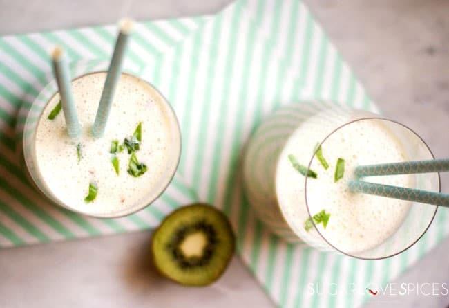 Honeydew Kiwi Yogurt Smoothie