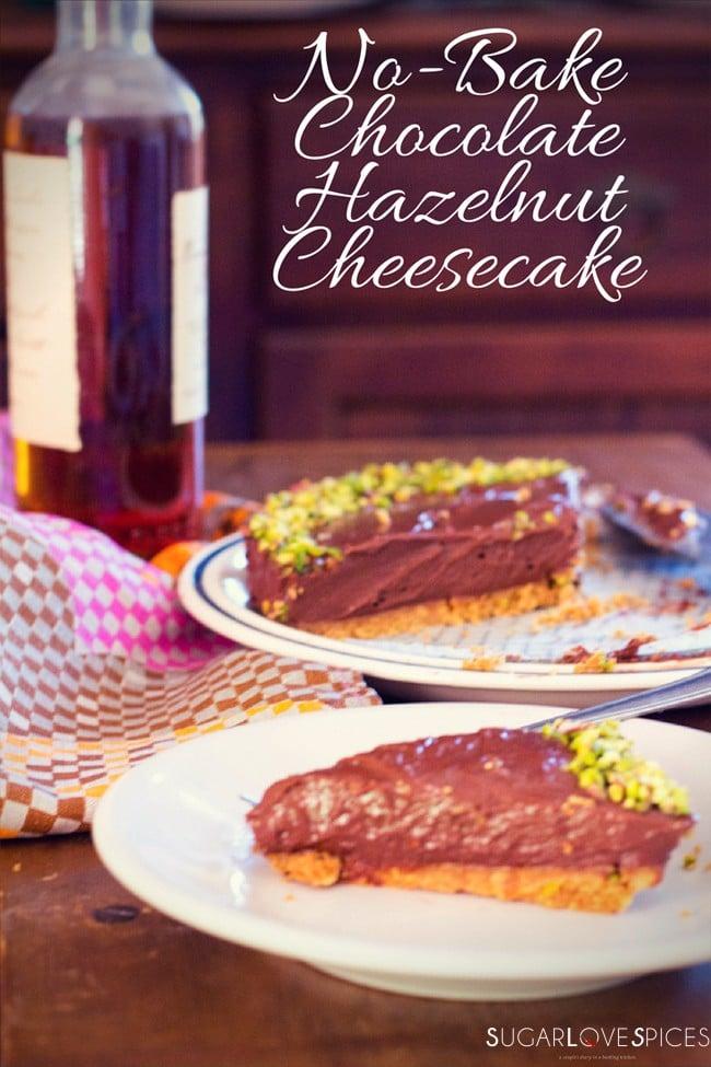 No-bake chocolate hazelnut cheesecake