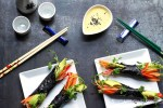 Raw vegetable nori wraps