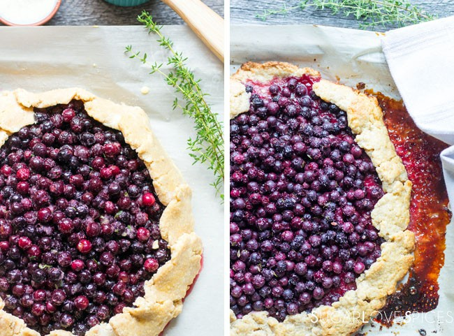 Saskatoon Berry Galette with Lemon and Thyme