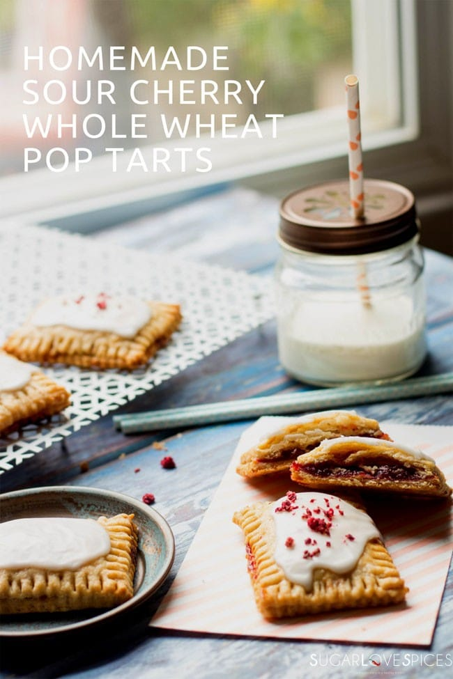 Homemade Sour Cherry Whole Wheat Pop Tarts - SugarLoveSpices