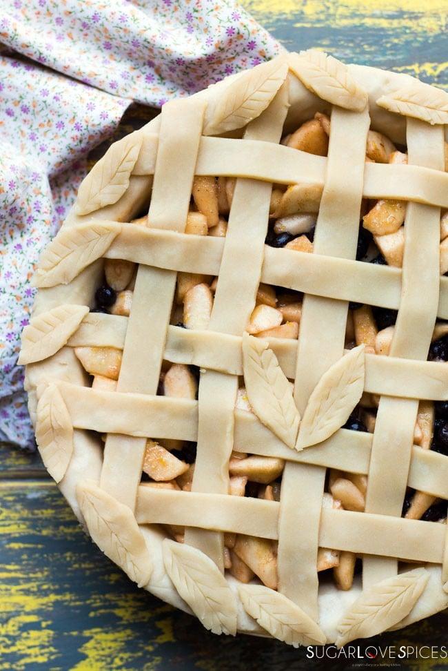 Apple Saskatoon Pie