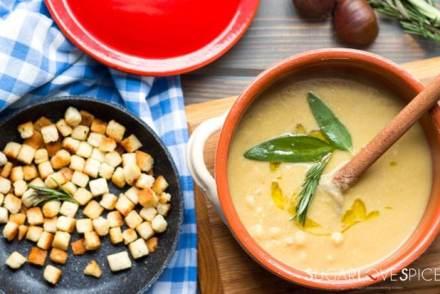 Chickpea Chestnut Soup (Zuppa di Ceci e Castagne)