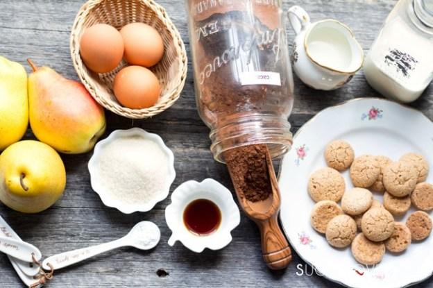 Pear and Chocolate Tart-ingr