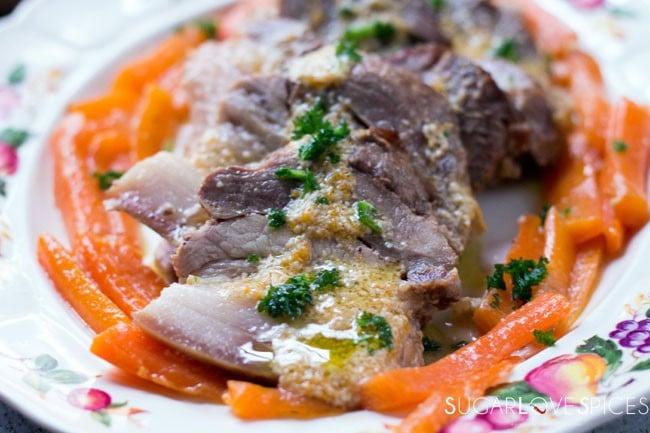 Milk braised Pork Shoulder with Carrots