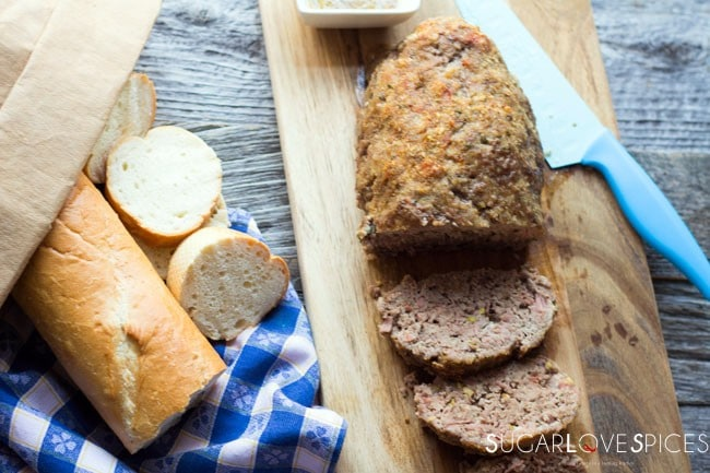Polpettone (Italian Meat Loaf) with Mortadella and Ricotta