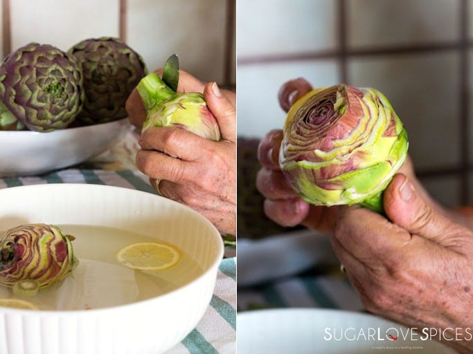 Steamed Lemon Artichokes