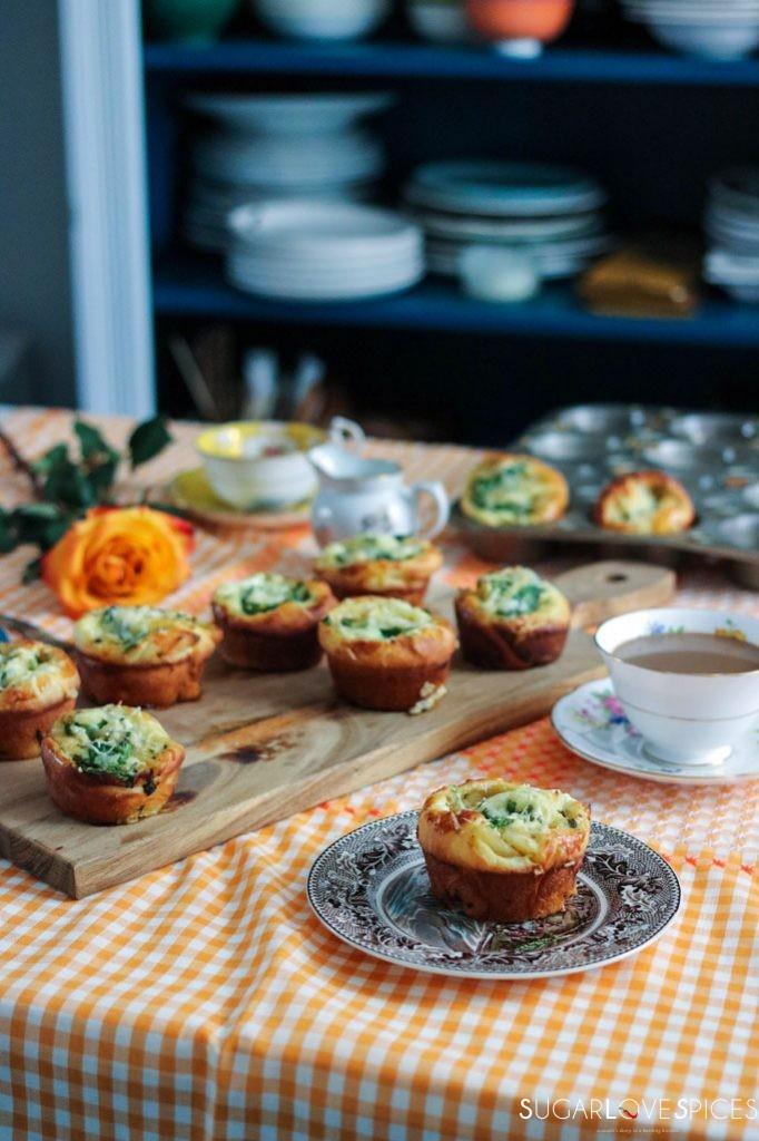 Spinach Caramelized Onion Breakfast Brioche