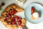 Strawberry Rhubarb Galette with Buckwheat Crust