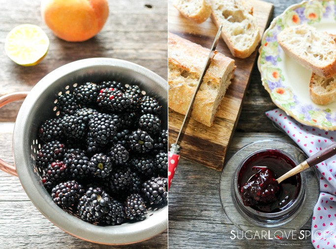 Blackberry Peach Ginger Jam-thefruit&thejam