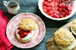 Roasted strawberry shortcakes