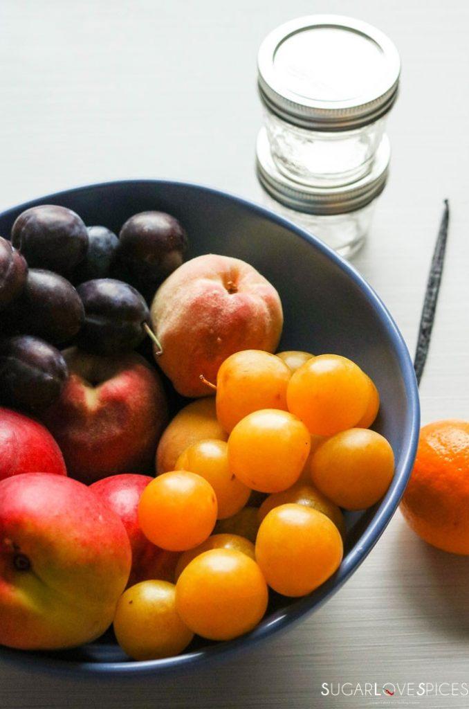 Vanilla bean stone fruit jam