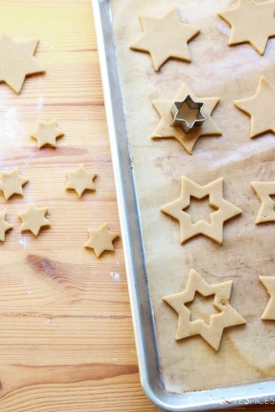 Orange and Chocolate Star Cookies-prep
