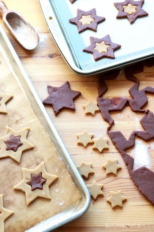 Orange and Chocolate Star Cookies-prep3