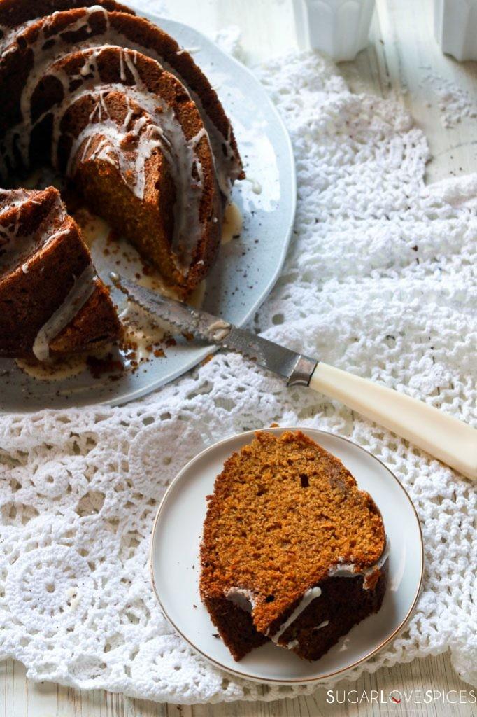 pumpkin, orange and rye bundt cake