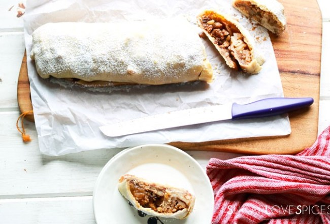Classic Apple Strudel with Homemade Strudel Dough