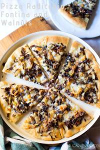 Pizza Radicchio, Fontina and Walnuts