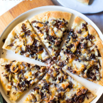 Pizza Radicchio, Fontina and Walnuts