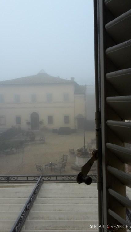 fog in tuscany