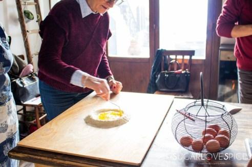 Spelt Flour Maltagliati Pasta adn a cooking class in Tuscany