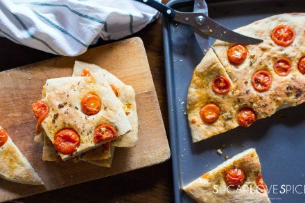Focaccia with Cherry Tomatoes and Oregano-feature