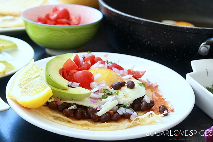 Huevos Rancheros with Black Bean and Avocado