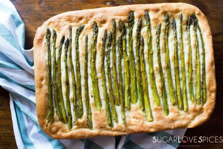 Spring Focaccia with Lemon Asparagus