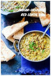 Indian-inspired Red Lentil Dahl-pinterest image
