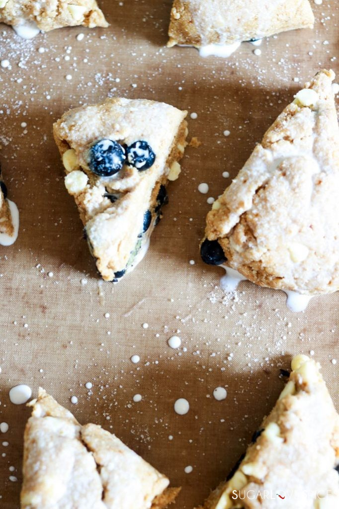 Whole Wheat Blueberry White Chocolate Scones-before baking