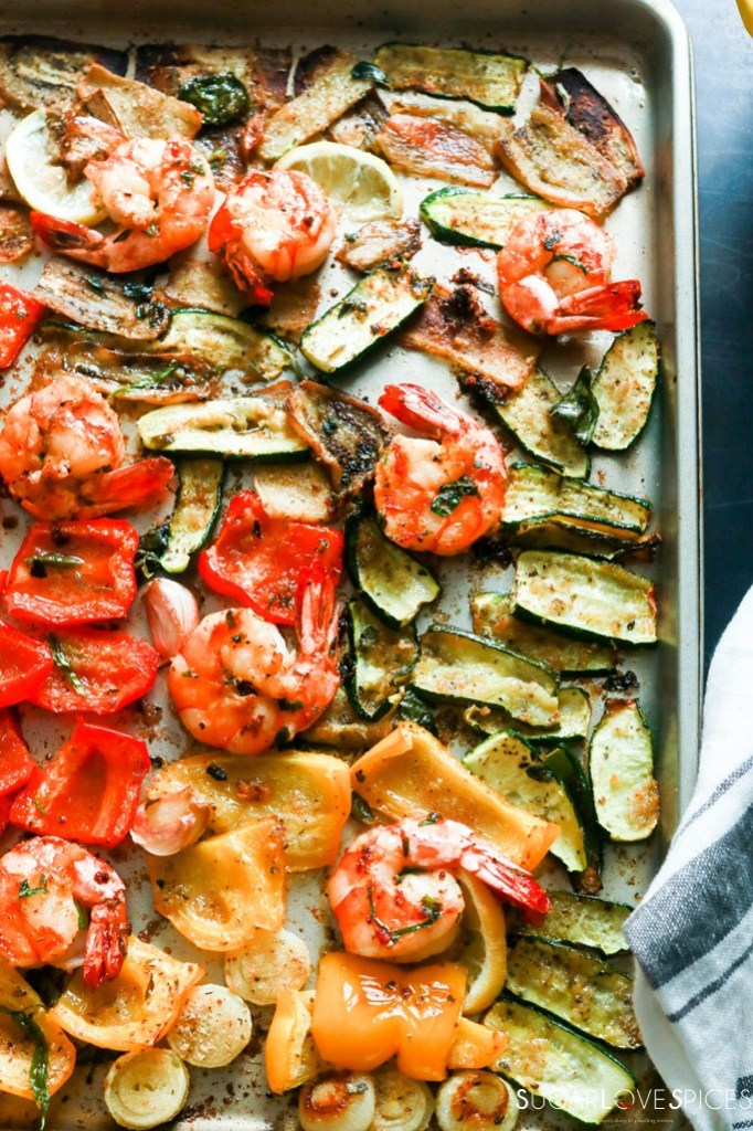 One Pan Vegetable and Shrimp