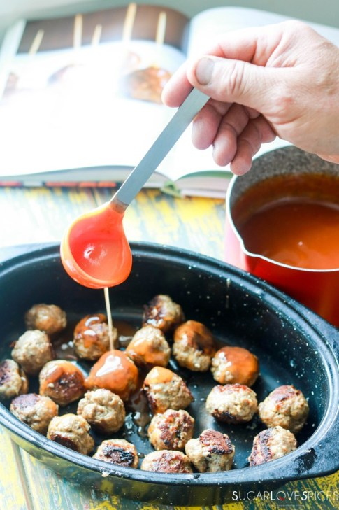 sweet and sour meatball-sauce