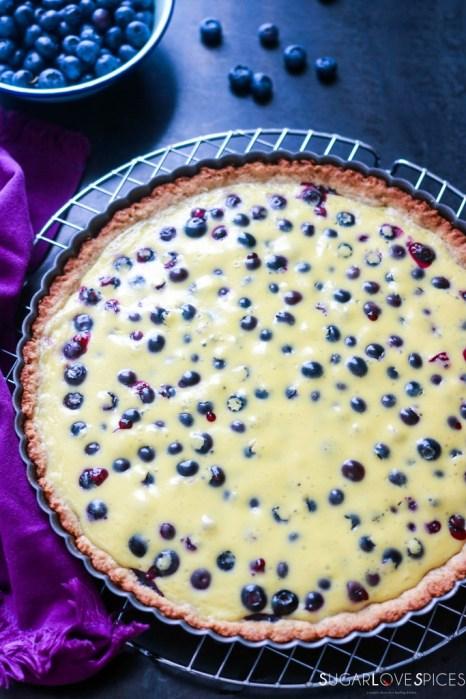 Mustikkapiirakka (Finnish Blueberry Pie)-whole pie