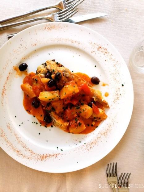 Halibut Mediterranea-style-restaurant