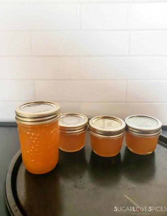 Easy quince jam-jars