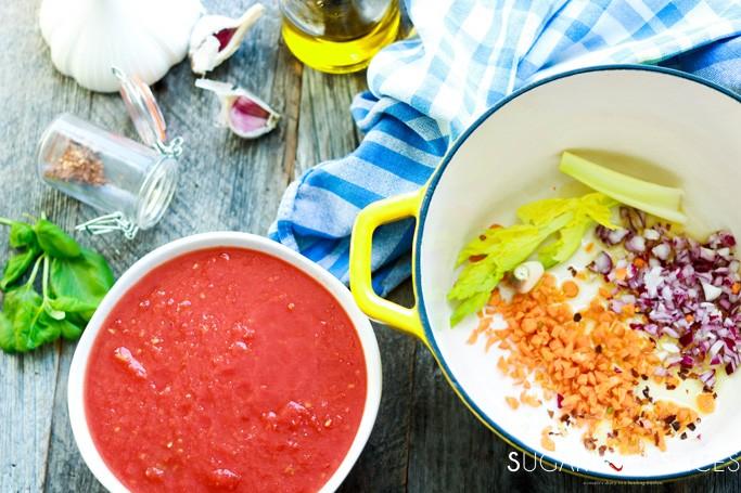 Italian Baked Ziti-making the sauce