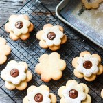 Ciambelline Sarde (Sardinian Sandwich Cookies)-filling with chocolate