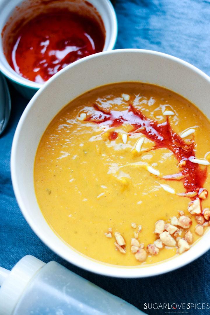 Red Kuri Squash Peanut Butter Soup-pin